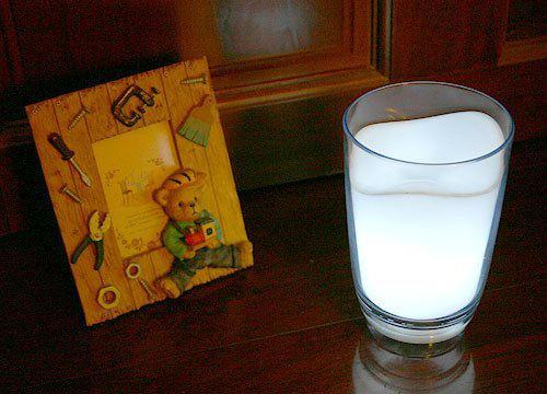 Free shipping 8pcs/lot  Wholesale Christmas Gift Novelty Item Milk Cup Light LED Night Light Lamp (white)