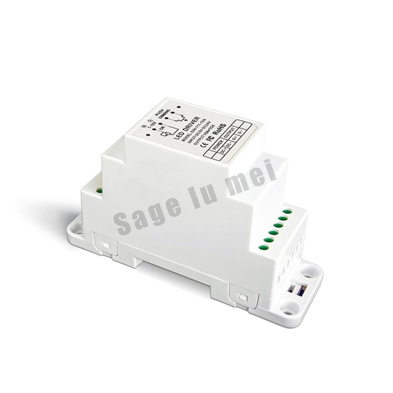 ФОТО Free shipping DIN-711-10A;CV 0-10V to PWM Dimmer Driver (DIN rail/Screw dual-use) DC5V-24V input  10AX1CH  50W/120W/240W output