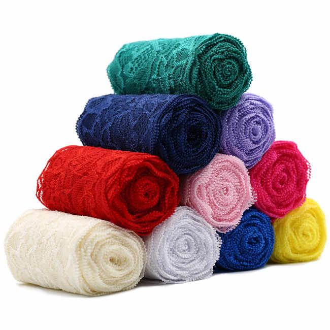 8 см спандекс кружево эластичное пошивное ремесло лента стрейч-кружева ткань вязание материал DIY аксессуары для одежды