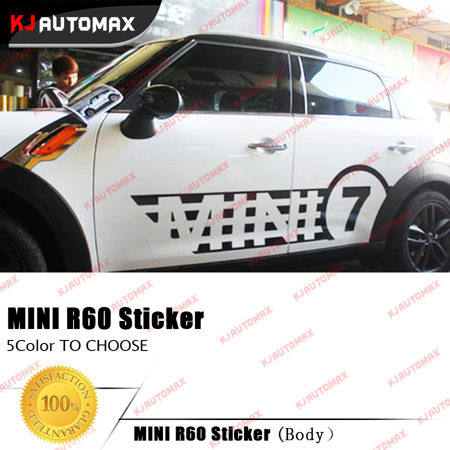 Car door sticker design - Car Side Creative Racing Stripes Stickers Decals For Mini Cooper R60 Countryman 2007 2016 Left