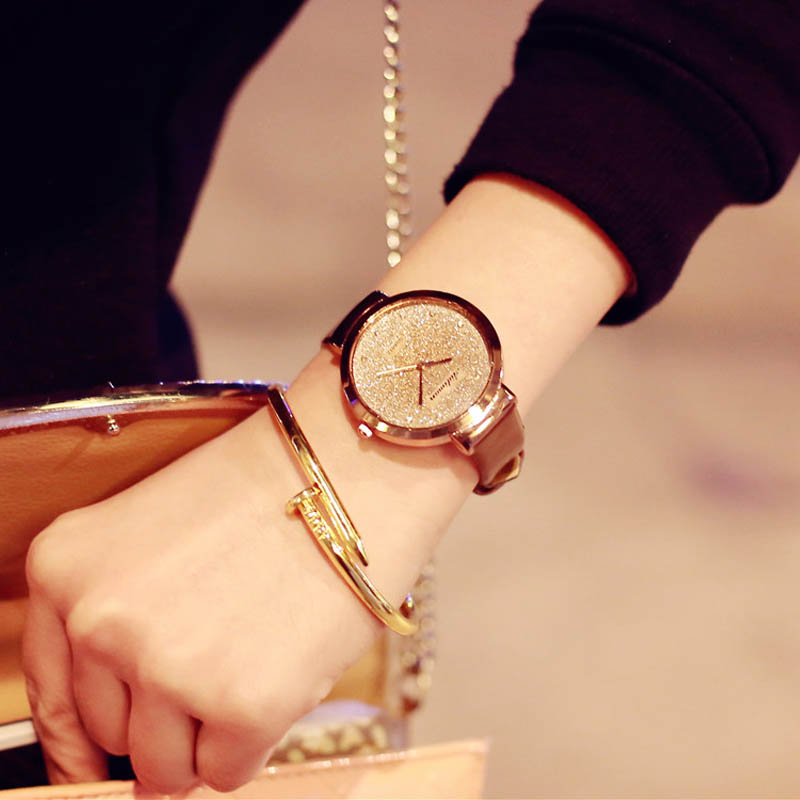 Sands Starry Simple Temperament Belt Table Diamond font b Watches b font For font b Women