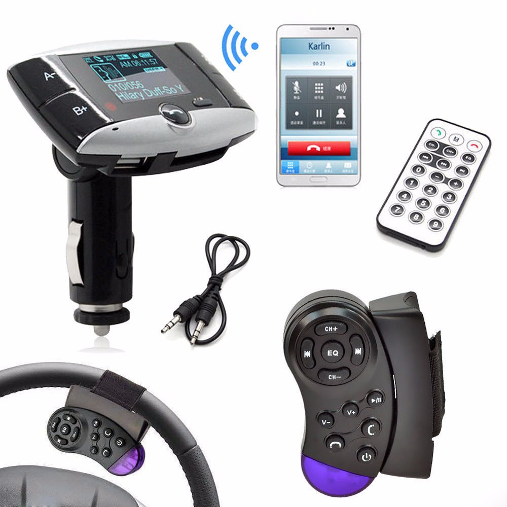 Mp3-Player Modulator Bluetooth Usb-Car-Charger SD 1 Car-Kit MMC Fm-Transmitter LCD Remote