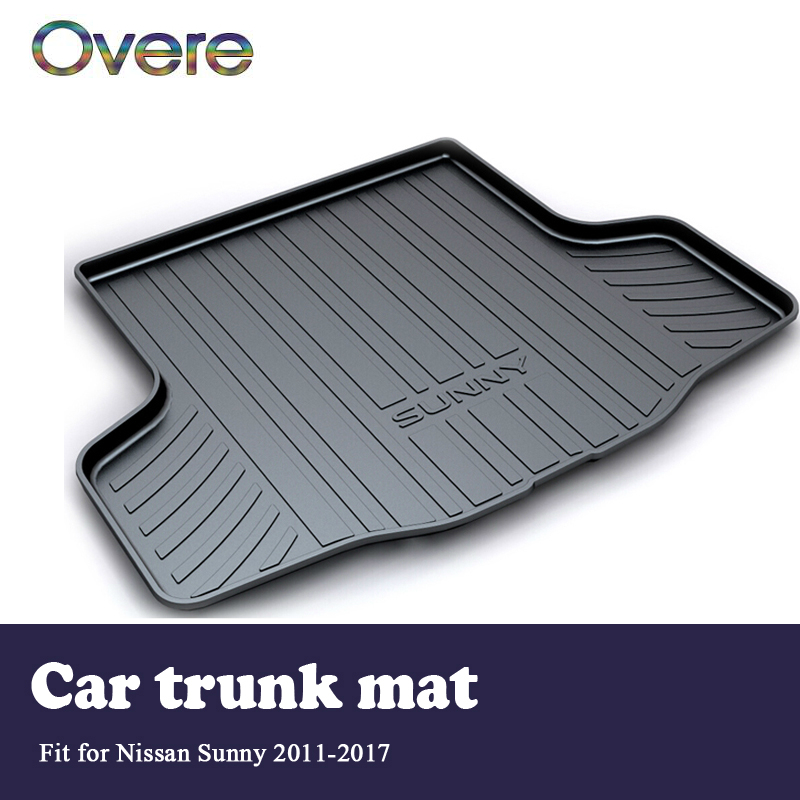 Overe 1Set Car Cargo rear trunk mat For Nissan Sunny N17 2011 2012 2013 2014 2015 2016 2017 Boot Liner Anti-slip mat Accessories цена и фото
