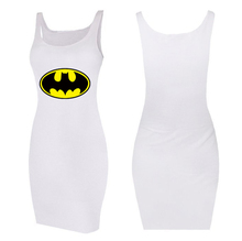 Summer Sexy Women BATMAN printed Sleeveless Party Dress Cocktail Casual Mini Dress XS-L
