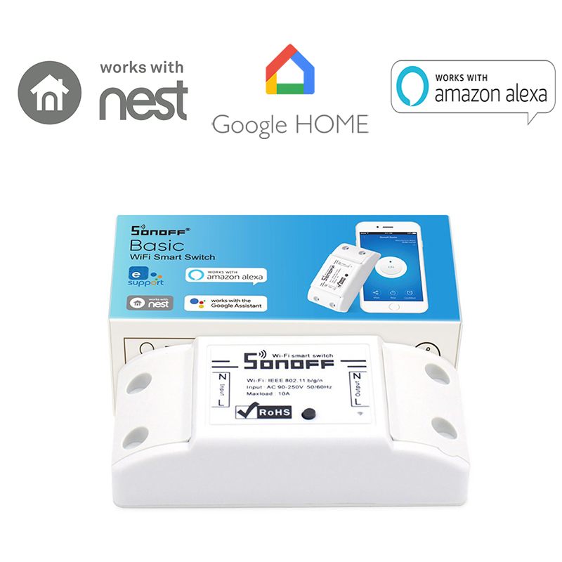Sonoff Intelligent WiFi Wireless Smart DIY ON/OFF Timer Switch 433Mhz RF  For MQTT COAP Android IOS Ewelink APP Home Automation