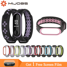 Mijobs Mi Band 3 Strap Bracelet Wrist for Xiaomi 4 Sport Silicone Smart Watch