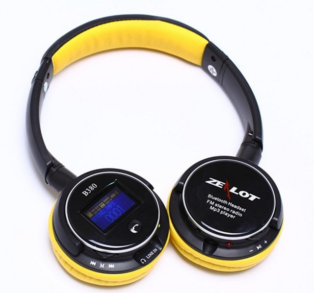 1PCS Free Shipping, Screen Bluetooth Headphone, Multi Function Wireless Headphone, FM Micro SD Support Computer Sports Headsets