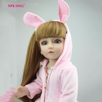 18 Inches BJD Joint Doll Cute Baby Girl Silicone Vinyl Reborn Bebe Dolls Blue Eyes Designer