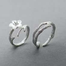TaiHua Original design cherry couple ring sterling silver simple 925 lord of the rings led women