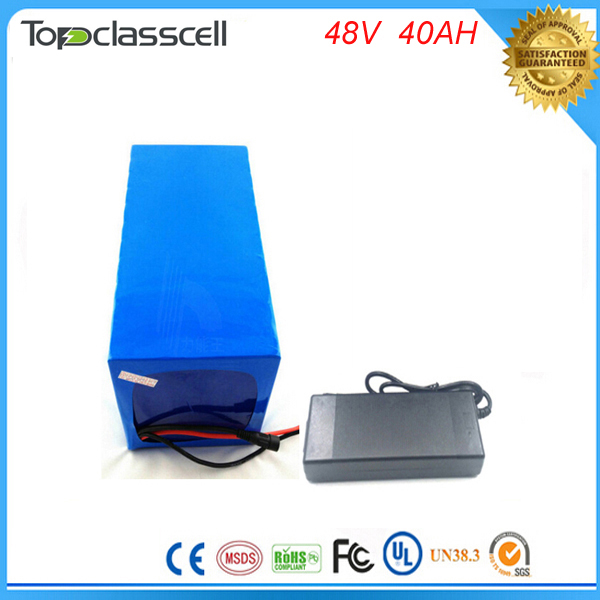 electric bike lithium ion battery 48V 40Ah lithium battery pack for 48v Bafang/8fun 2000w /750w /1000w  mid/center drive motor free customs taxes super power 1000w 48v li ion battery pack with 30a bms 48v 15ah lithium battery pack for panasonic cell