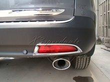 Free Shipping Car Stickers ABS Plastic Chromed Rear Fog Light Cover For 2012 Up CRV European Model