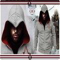 Новая мода высокого качества 2016 assassins creed кардиган молнии мужская флис мужская с капюшоном руно zip куртки носить из S-3XL