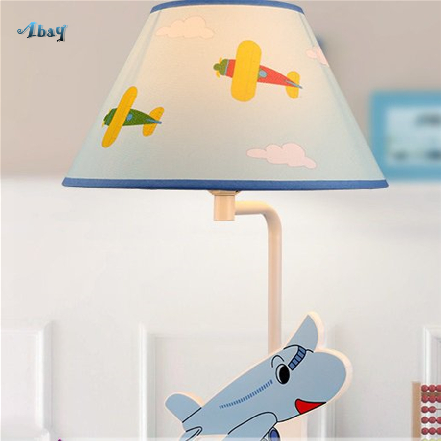 Creative Children Plane Shape Table Lamps for Kids Bedroom Study Princess House Decoration Bedside Lamp Reading Light Fixture