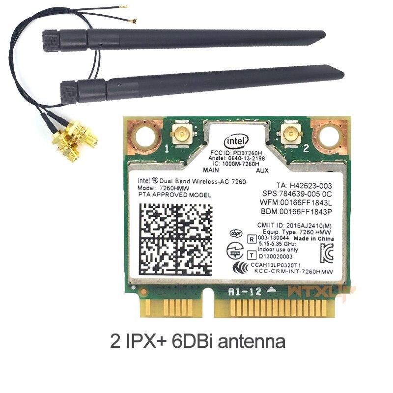 WTXUP 802 11ac for Intel Wireless AC 7260 7260HMW wifi+BT