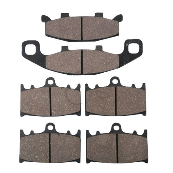 Motorcycle Semi-Metallic Sintered Disc Front & Rear Brake Pads For KAWASAKI ZZR400 ZZR 400 1990 - 1992 1991