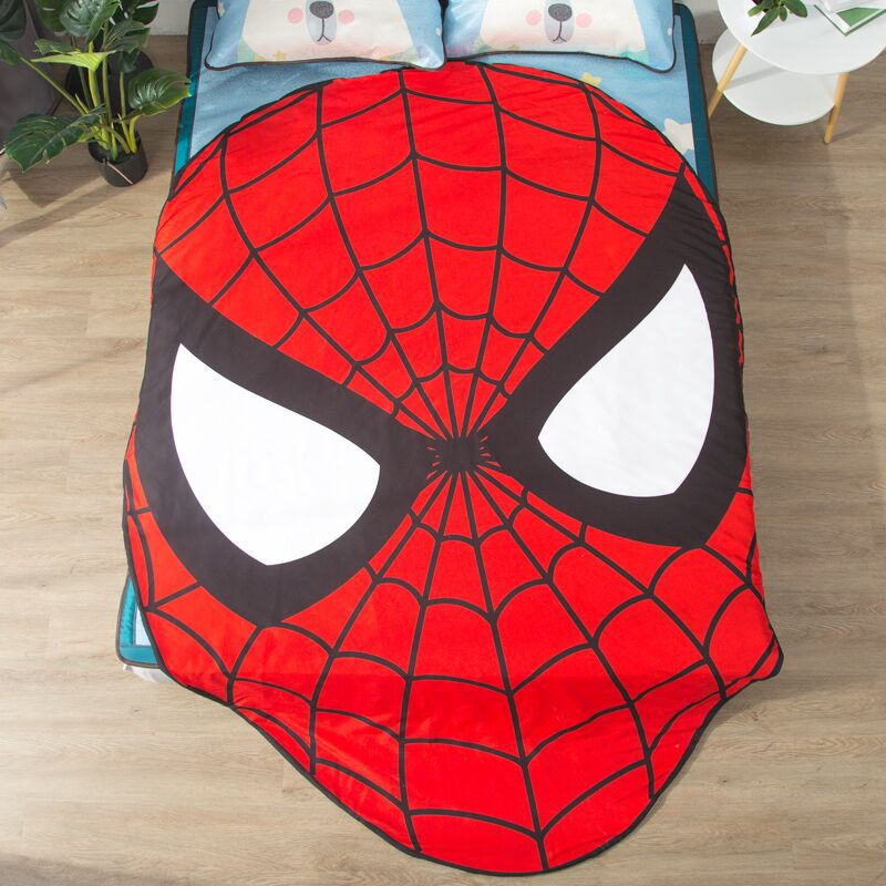 3D Superman Quilt Quilt Maserati Bedspreads For Double Bed Totoro Bear Dog Animal Potato Shaped Simulation Bedding Set Kids Gift