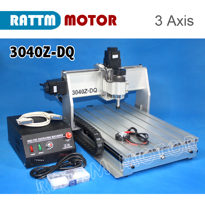 RUS/ EU Delivery! 3Axis 3040Z-DQ can LPT to USB CNC 1204 Ballscrew Router Engraver/Engraving drilling wood cnc router 3040z dq mill frame aluminum table alloy engraving machine part