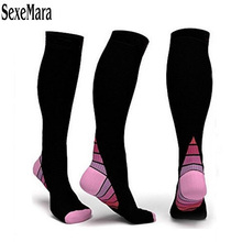 Sports Compression Socks Comfortable Relief Soft Miracle Leg Support Stretch Breathable Anti-Fatigue Sock For Travel 5QR-AD3
