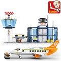 Sluban M38-B0367 678 unids Ladrillos construcción eductional Bloques Huecos de la aviación serie legeoed Aeropuerto Internacional