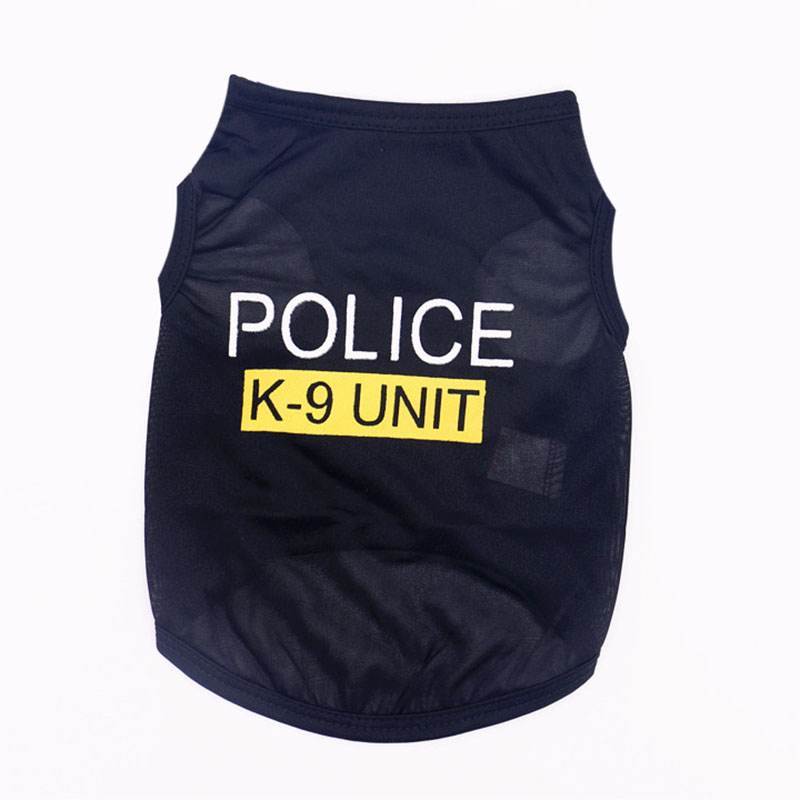 Cute Little Puppy Police Vest T-Shirt Summer Pet Costume Polyester Small Dog Cat Clothes Super Breathable Puppy Poodle Apparel4