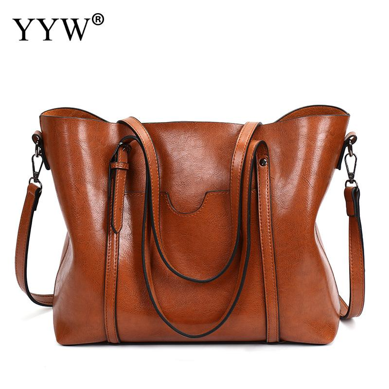 Solid Women Shoulder Bags 2018 Fashion Women Handbags Faux Leather Large Capacity Tote Bag Casual Pu Leather Messenger Bag New fashion shoulder bag woman bag 2017 new arrivals pu leather handbag large capacity casual tote shoulder bags women handbags