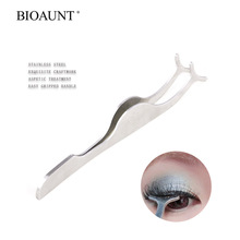 BIOAUNT 1pc Professional False Eyelash Curler Makeup Mini Curling Lashes Cosmetic Tools Stainless Eye Lash Curlers Women & Girls