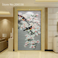 Magpie Branches Called Hand Made Glass Mosaic Tile Art Wall Mural Decor