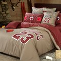 Горячая чикаго буллз #23 Майкл Джордан баскетбол постельных принадлежностей Вышитые постельное белье Из Египетского хлопка покрывало полный королева king size
