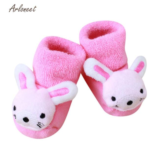 328fa158555d0 ARLONEET Cartoon baby shoes Soft baby shoes winter Newborn Kids Baby Girls  Boys Anti-Slip Warm Socks Slipper Shoes Boots ja5