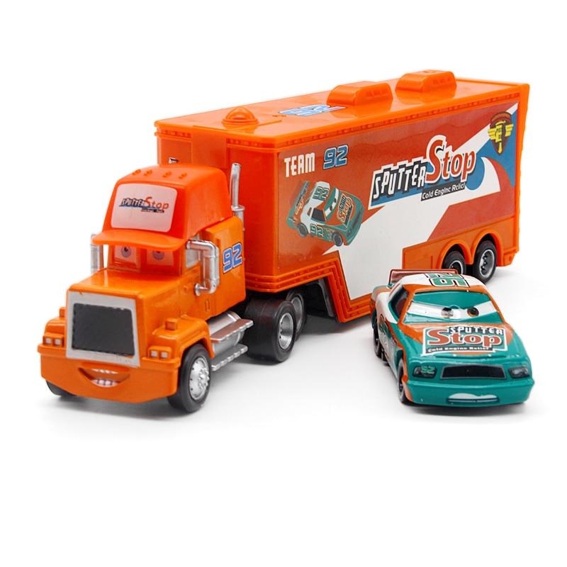 Disney Pixar Cars No.92 Mack Truck + Small Car Sputter