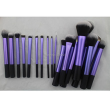 Sedona Amazing 20 Pieces soft hair dense Purple makeup brush complete set Professional High Quality cosmetics