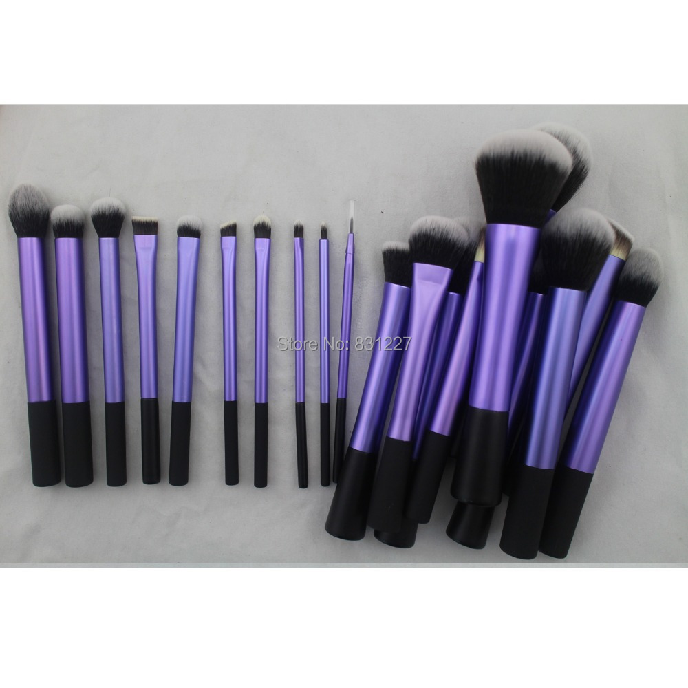 Sedona increíble 20 piezas de pelo suave denso púrpura maquillaje brocha conjunto completo profesional de cosméticos de alta calidad cepillo para regalo-in rizador de pestañas from Belleza y salud    1