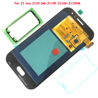 FIX2SAILING 100% Tested Working AMOLED LCD Display Touch Screen Assembly For Samsung Galaxy J1 Ace J110 SM J110F J110H J110FM