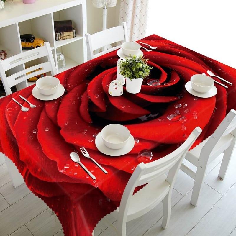 1 pçs 3d casamento roxo toalha de mesa buquê mesa pano árvore de natal mesa pano festa de aniversário jantar para decoração de casa