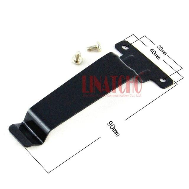 10 adet demir kemer klipsi walkie talkie için el radyosu TK 2107 TK 3107 TK 480 TK 280 TK 380 BC20 TK 278 TK 378 TK 388 TK 278G