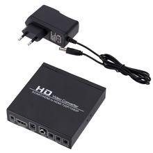 SCART HDMI תואם כדי HDMI תואם מתאם מלא HD 1080P 3.5mm וידאו אודיו ממיר עבור DVD נגן/ממיר HDTV