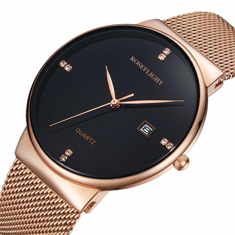 Marca de cuarzo reloj damas de acero inoxidable reloj de oro reloj del cuarzo del diamante de la manera reloj-Fine moda reloj resistente al agua