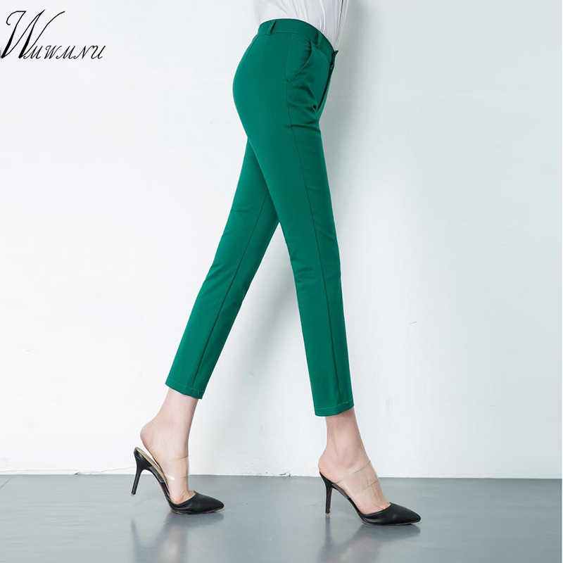 Elegant Womens Casual Pencil Pants Cute 20 Candy Colors Plus Size Stretch  Trousers Women Elastic Slim 446c69f50770