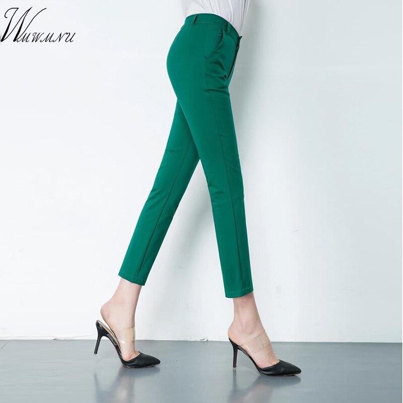 Elegant Womens Casual Pencil Pants Cute 20 Candy Colors Plus Size Stretch Trousers Women Elastic Slim Office Leggings Pants