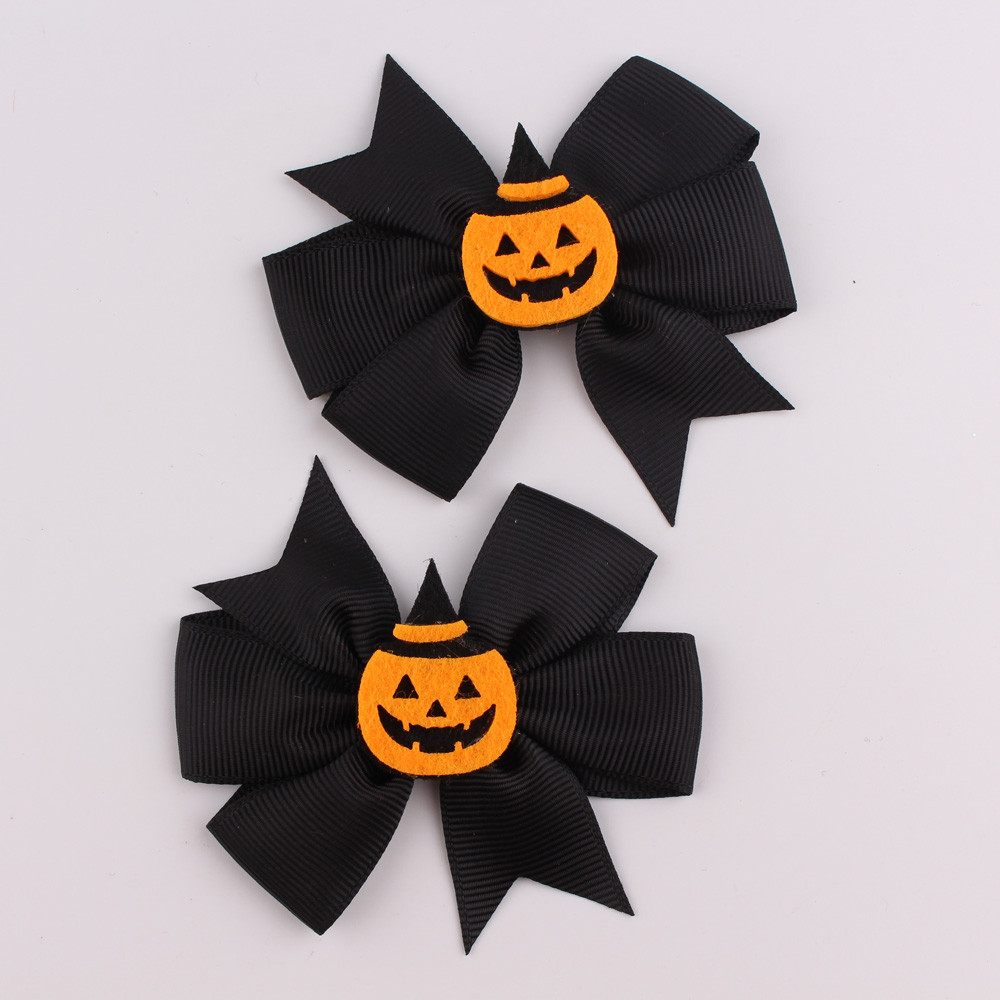 PARRY cool baby girl 1 Pair Fashion Halloween Toddler Baby Kids Girls Hairpin Headdress Pumpkin Bowknot Clip ag31 P30 scrunchies