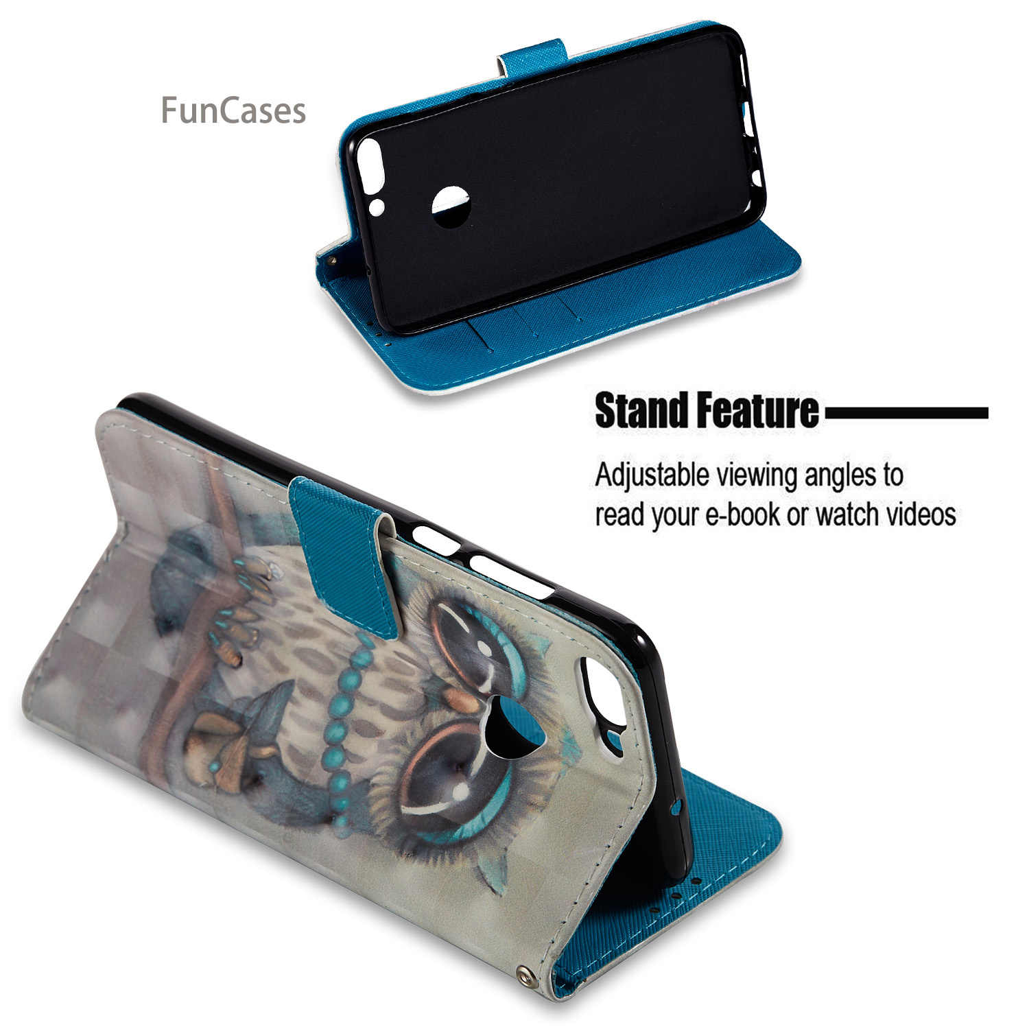 lovely Pony Flip Phone Case sFor Coverage Huawei Enjoy 7S Soft Silicone Back Cover Wonderful Huawei Ascend P Smart