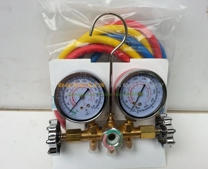 Hvac R12 R22 R502 refrigerant manifold pressure gauge refrigeration charging tools air conditioning A/C  цены
