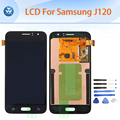 "Lcd original para samsung galaxy j1 2016 j120 lcd screen display toque digitador assembléia j120f j120h j120m 4.5 ""pantalla repair"
