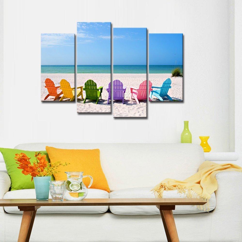 Arte de la pared de la lona del paisaje playa fotografía lienzo ...