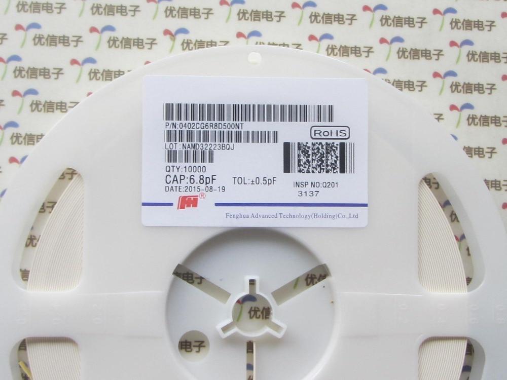Бесплатная Доставка 500 шт. 6.8PF 0402 качество керамический конденсатор 0402 Керамических конденсаторов 6.8PF 50 В 5% конденсатор smd 0402