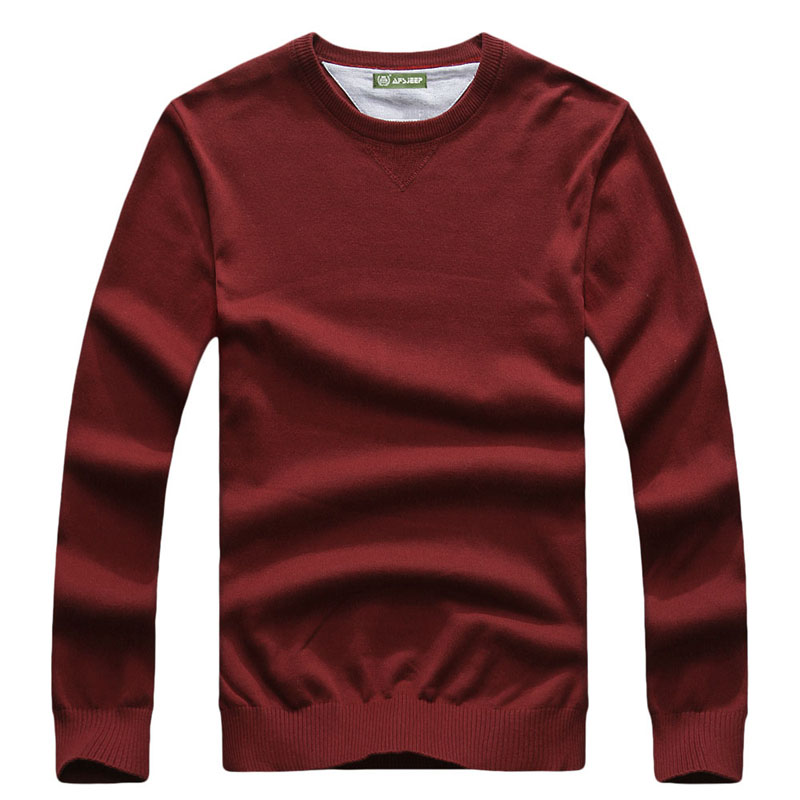 CLOTHES Autumn Pullover New Knitted Sweater Solid Color Brand-Clothing Mens Cotton V-Neck Sweater Men Casual Fashion Outlet