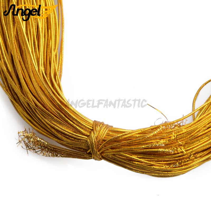 1mm Gold Silver Rubber Cord Rope Elastic