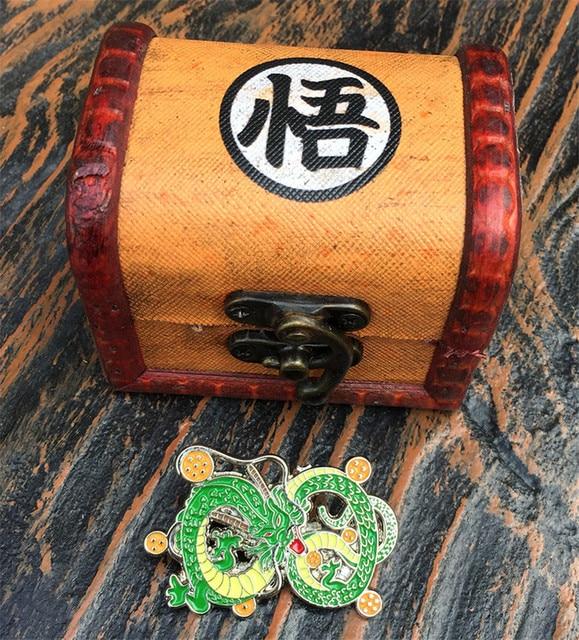 Брошка с драконом в подарочной коробке Аниме Драконий жемчуг Dragonball Z