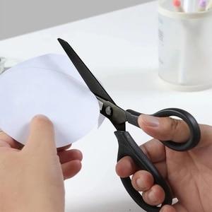 Image 4 - Huohou Titanium plated Scissors Black Sets Paper Cutting Scissor Sewing Thread Antirust Pruning Scissor Leaves Trimmer Tools Kit