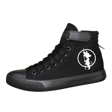 La bola del dragón del Anime Z imprimir zapatos de lona zapatos genial Saiyan Goku porque botas para fiesta de Halloween para High-top zapatos vulcanizados zapatos A51407